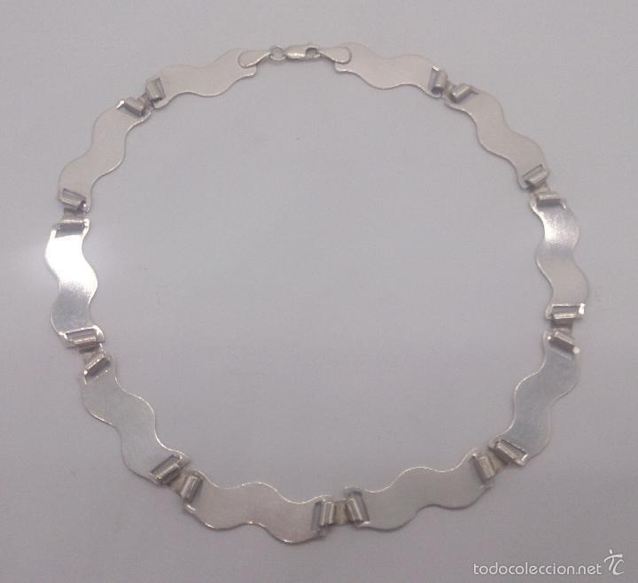 Joyeria: Gargantilla en plata de ley contrastada mate/brillante de diseño exclusivo y sofisticado . - Foto 7 - 58084167