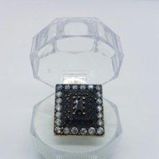 Jewelry - Gran anillo estilo art deco en plata de ley contrastada, bronce , circonitas, onix engarzado . - 58544793