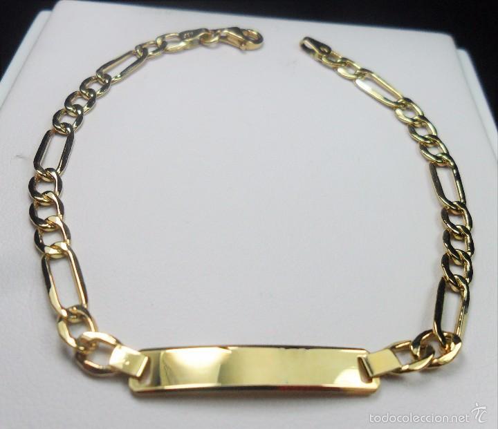 Pulsera en oro de 18 kt tipo esclava de eslabo comprar for Tipos de pulseras