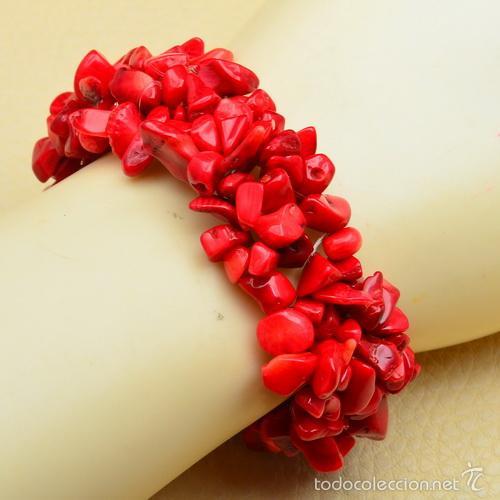 muy agradable precio barato aliexpress magnifica pulsera de coral rojo autentico pulid - Buy Antique ...