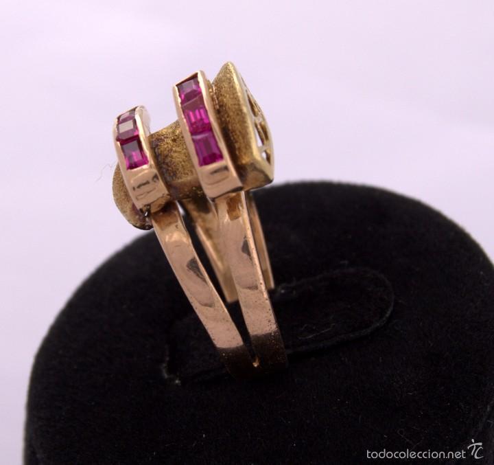 Joyeria: Sortija Chevalier Rubí montada on oro 18k Ruby Gold Chevalier Ring Antique - Foto 3 - 59903203