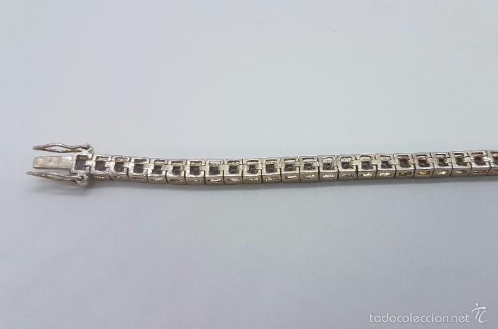 Joyeria: Magnífica pulsera en plata de ley contrastada con amatistas facetadas y engarzadas, doble cierre de - Foto 8 - 159656876