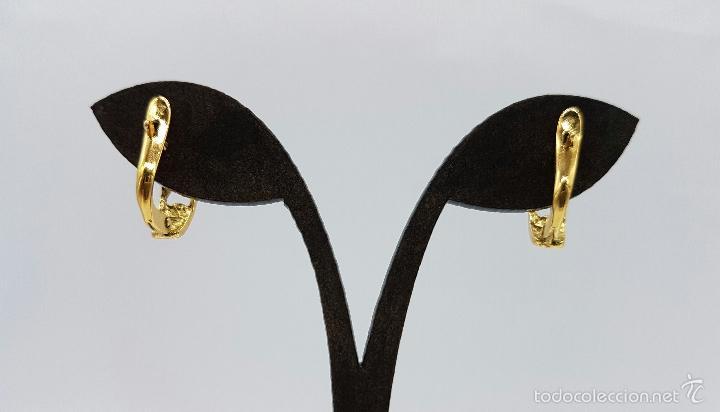 Joyeria: Pendientes vintage chapados en oro de 18k , diseño cadena . - Foto 4 - 60456863