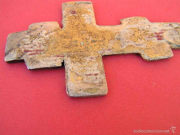 Joyeria: CRUCIFIJO ORTODOXO ANTIGUO . BRONCE BAÑO DE PLATA. 7,8 cm. - Foto 4 - 60693091