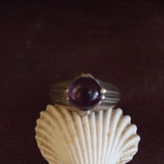 Jewelry - VINTAGE. ANILLO DE PLATA SOLITARIO, PIEDRA AMATISTA - 61170631