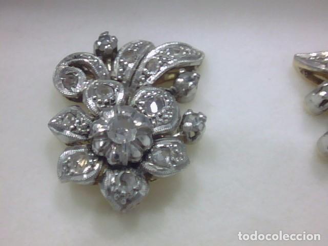 ee9ad5067566 Pendientes antiguos platino y brillantes – Anillo diamante