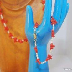 Joyeria - collar de coral y perlas cultivadas con cierre de oro - 62089156