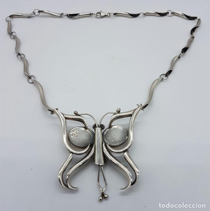 Joyeria: Impresionante gargantilla antigua en plata de ley contrastada con cabujones de ámbar báltico . - Foto 6 - 62152040
