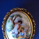 Joyeria: (ANT-161023)CAMAFEO DE PORCELANA (LIMOGE FRANCES) BROCHE. Lote 64143083