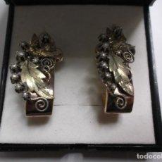 Joyeria - pendientes antiguos oro 14k. - 64482047