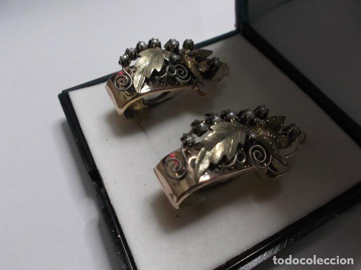 Joyeria: pendientes antiguos oro 14k. - Foto 2 - 64482047