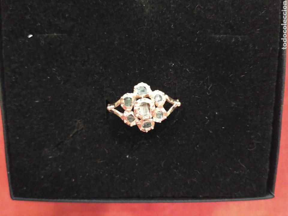 Joyeria: Juego oro 14K y esmeraldas del siglo XIX, anillo, pendientes del siglo XIX - Foto 5 - 64661967