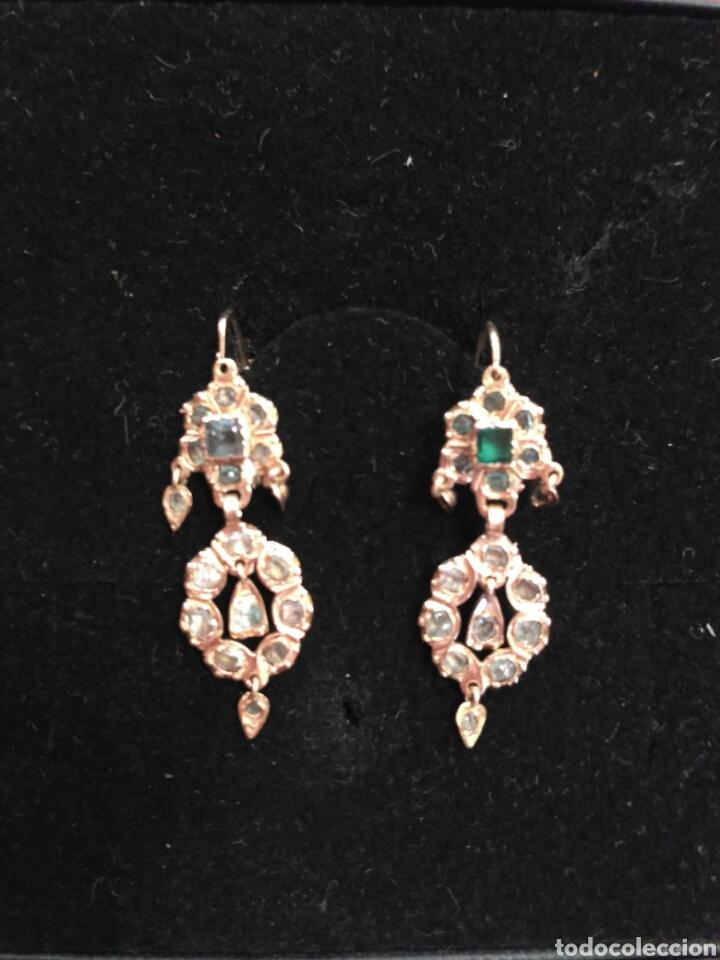 Joyeria: Juego oro 14K y esmeraldas del siglo XIX, anillo, pendientes del siglo XIX - Foto 6 - 64661967