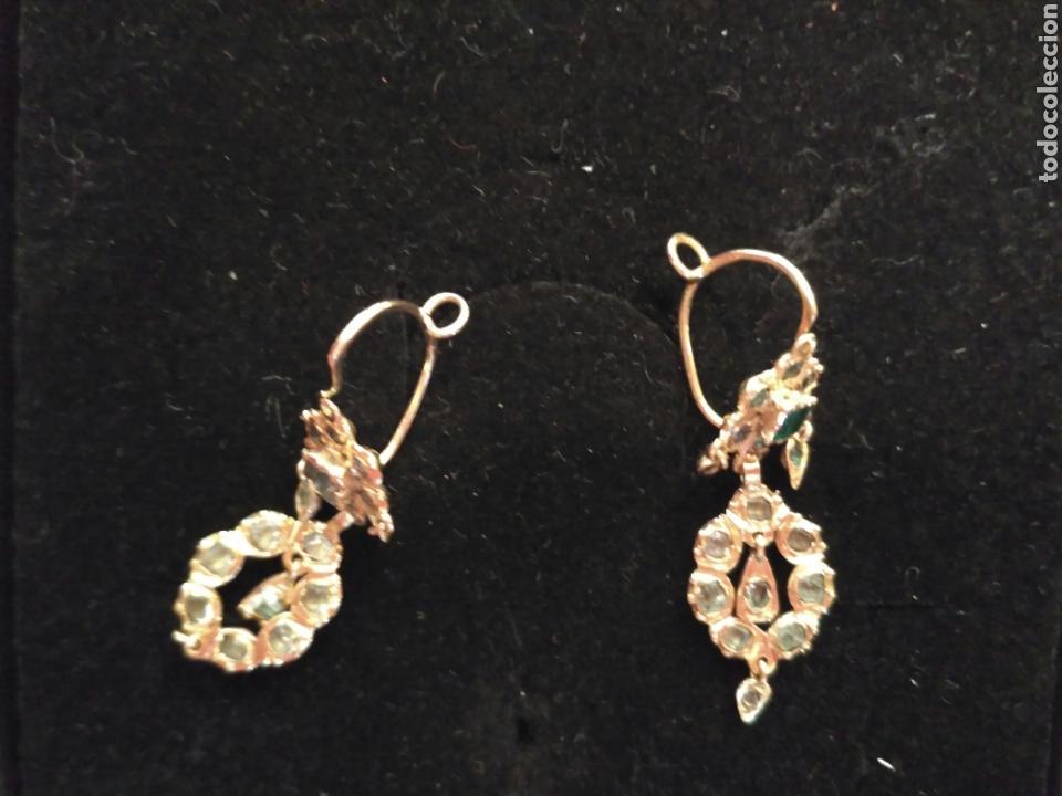 Joyeria: Juego oro 14K y esmeraldas del siglo XIX, anillo, pendientes del siglo XIX - Foto 7 - 64661967