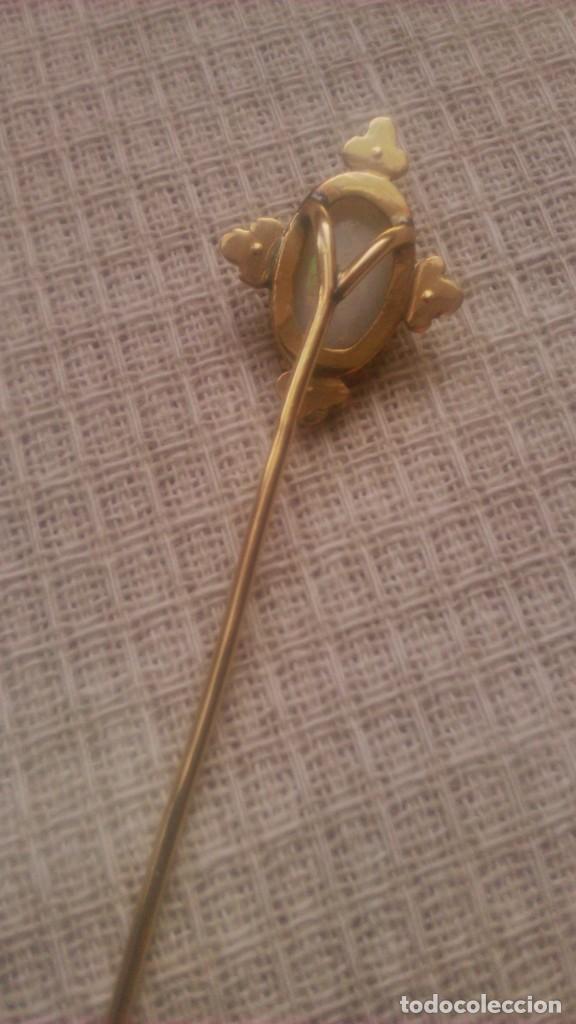 Joyeria: alfiler victoriano de corbata o foular, opalo con 4 perlas engarzado en oro de 18 k,siglo xix - Foto 8 - 65020795