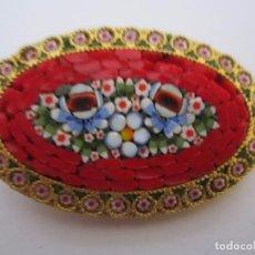 Joyeria: BONITO BROCHE ANTIGUO CON DIBUJO FORMADA POR PIDRECITAS 3X5CM ART DECO. Lote 65945046