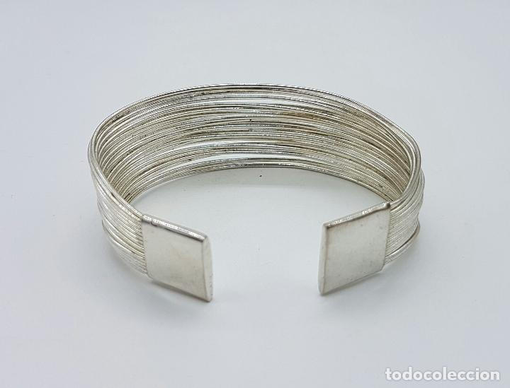 Joyeria: Original brazalete vintage en tiras de plata de ley contrastada . - Foto 3 - 66022806