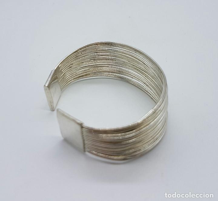 Joyeria: Original brazalete vintage en tiras de plata de ley contrastada . - Foto 4 - 66022806