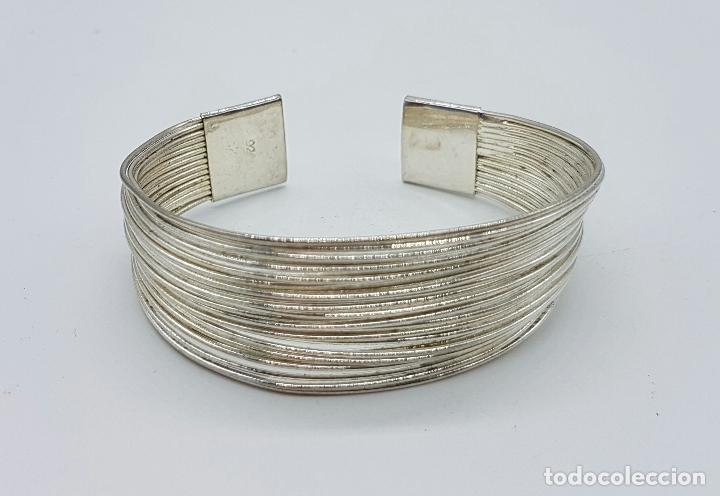 Joyeria: Original brazalete vintage en tiras de plata de ley contrastada . - Foto 5 - 66022806
