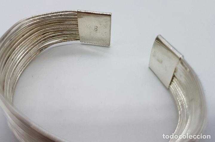 Joyeria: Original brazalete vintage en tiras de plata de ley contrastada . - Foto 6 - 66022806