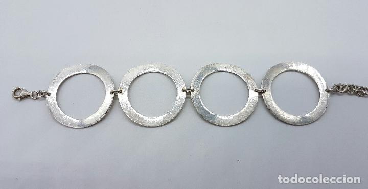 Joyeria: Pulsera vintage de eslabones circulares en plata de ley contrastada 925 . - Foto 2 - 66490794