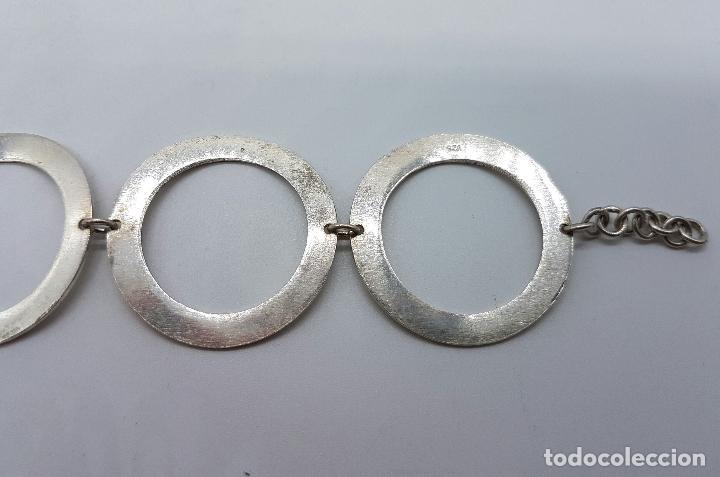 Joyeria: Pulsera vintage de eslabones circulares en plata de ley contrastada 925 . - Foto 4 - 66490794