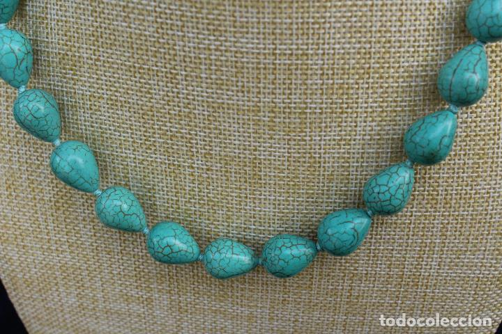Joyeria: Collar gargantilla de piedras azules turquesa - Foto 2 - 54057608
