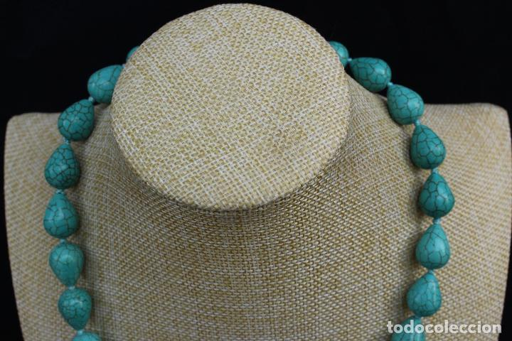 Joyeria: Collar gargantilla de piedras azules turquesa - Foto 3 - 54057608