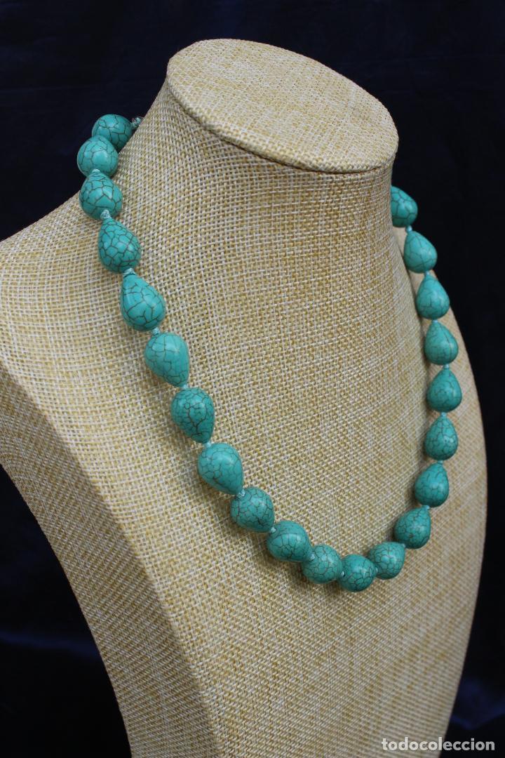 Joyeria: Collar gargantilla de piedras azules turquesa - Foto 4 - 54057608