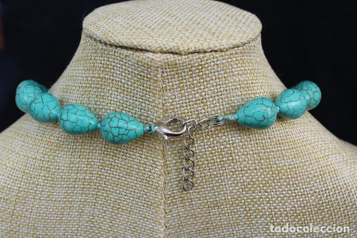 Joyeria: Collar gargantilla de piedras azules turquesa - Foto 5 - 54057608