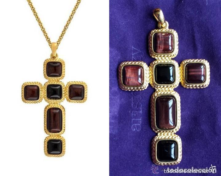 último vendedor caliente mujer exuberante en diseño Aristocrazy colgante cruz latina biseles de tre - Sold ...
