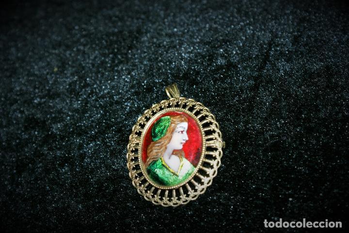 Joyeria: antiguo colgante de oro 18k esmalte - limognes - Foto 3 - 67784197