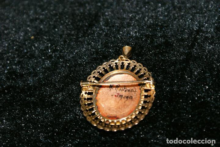 Joyeria: antiguo colgante de oro 18k esmalte - limognes - Foto 4 - 67784197