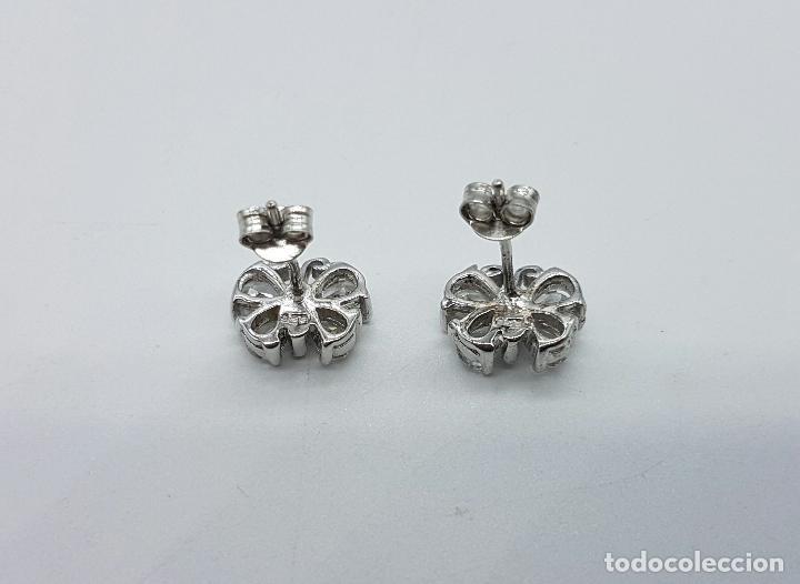 Joyeria: Pendientes vintage en plata de ley con forma de mariposas, circonitas talla pera engarzadas . - Foto 3 - 68307353