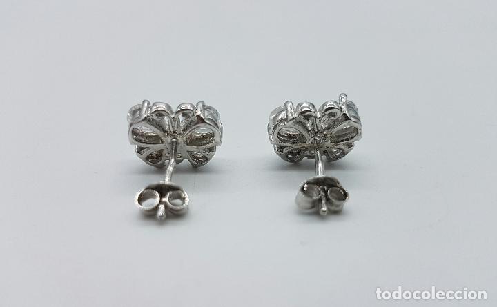 Joyeria: Pendientes vintage en plata de ley con forma de mariposas, circonitas talla pera engarzadas . - Foto 4 - 68307353