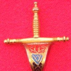 Joyeria: BROCHE TIPO ALFILER S. XIX ISABELINO, EN PLATA Y PLATA SOBREDORADA CON ESMALTES. 5,1 GRAMOS.. Lote 70324141