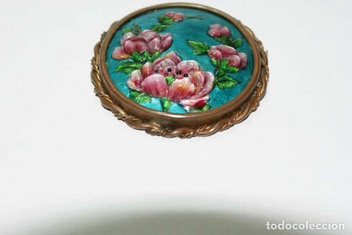 Joyeria: Antiguo broche Frances Esmaltado motivos Florales LIMOGES - Foto 7 - 70373289