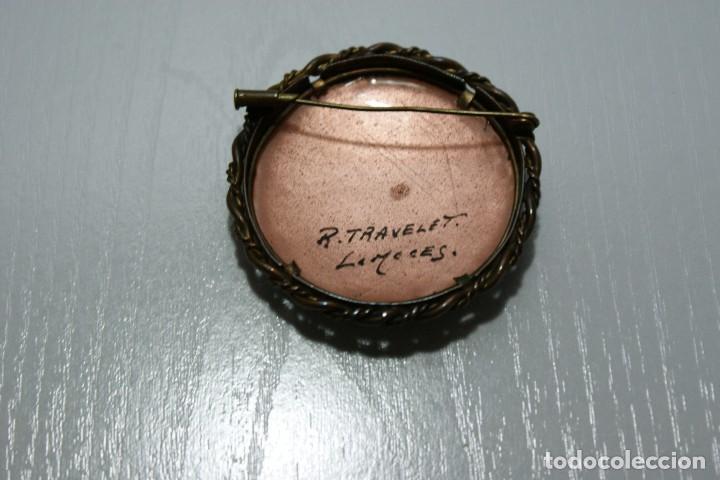 Joyeria: Antiguo broche Frances Esmaltado motivos Florales LIMOGES - Foto 10 - 70373289