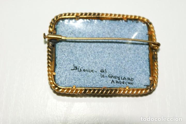 Joyeria: Antiguo broche Frances Esmaltado motivos Florales - Foto 7 - 70373517
