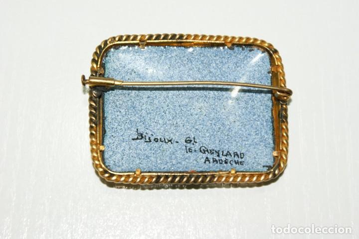 Joyeria: Antiguo broche Frances Esmaltado motivos Florales - Foto 8 - 70373517