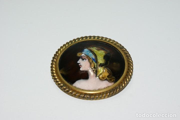 Joyeria: Bonito broche FRANCES de bronce y esmalte LIMOGES - Foto 3 - 70375161