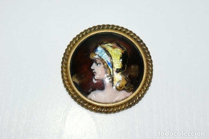 Joyeria: Bonito broche FRANCES de bronce y esmalte LIMOGES - Foto 6 - 70375161