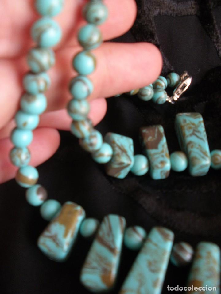 Joyeria: Gargantilla collar de turquesas muy veraniego - Foto 4 - 70521777