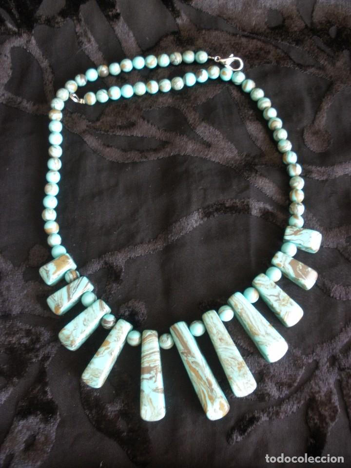 Joyeria: Gargantilla collar de turquesas muy veraniego - Foto 5 - 70521777