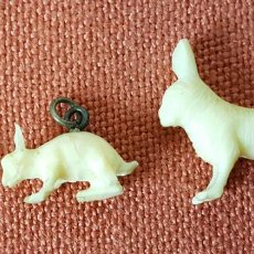 Joaillerie: COLECCION DE 3 FIGURAS DE ANIMALES EN HUESO O MARFIL. MINIATURAS. CIRCA 1960. Lote 71815155