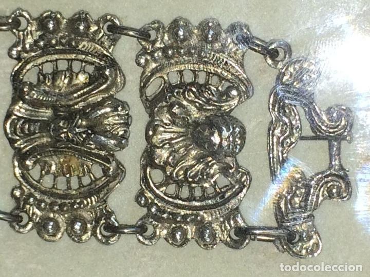 Joyeria: BRAZALETE DE ESTILO ORIENTALIZANTE. METAL CHAPADO PLATA. ENMARCADO. INDIA. 1950 - Foto 4 - 72045435