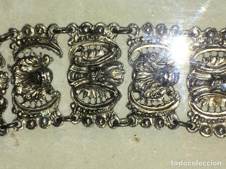 Joyeria: BRAZALETE DE ESTILO ORIENTALIZANTE. METAL CHAPADO PLATA. ENMARCADO. INDIA. 1950 - Foto 5 - 72045435