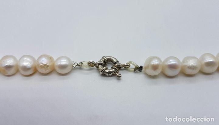 Joyeria: Gran collar antiguo de perlas barrocas cultivadas y cuentas de amatistas naturales . - Foto 5 - 73008407