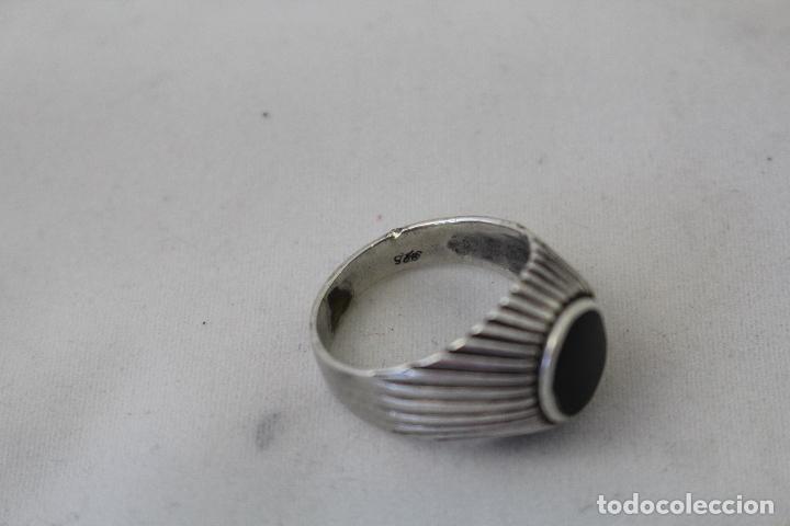 Joyeria: anillo antiguo en plata de ley con azabache - Foto 8 - 84783070