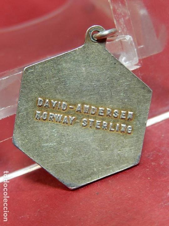 Joyeria: Pequeña medalla o colgante. Signo del zodiaco Centauro. Plata. David Andersen. Noruega. - Foto 4 - 73516247